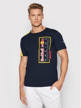 Puma Puma T-Shirt Red Bull Racing Logo Tee 596221 Granatowy Regular Fit