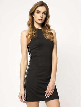 Calvin Klein Jeans Calvin Klein Jeans Kleid für den Alltag Milano Jersey Bodycon J20J213629 Schwarz Slim Fit