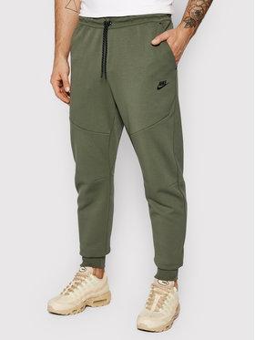 Nike Nike Teplákové nohavice Nsw Tech Fleece CU4495 Zelená Slim Fit