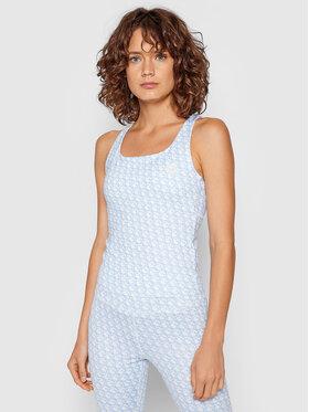 Guess Guess Marškinėliai Caitlin Logomania O1BA23 MC03W Mėlyna Slim Fit