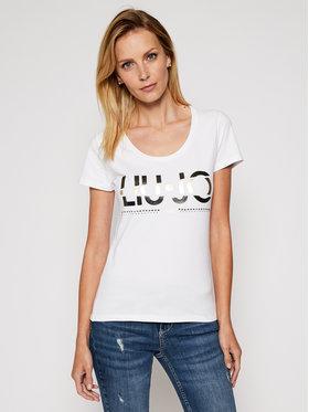 Liu Jo Liu Jo Marškinėliai WF0087 J5003 Balta Slim Fit