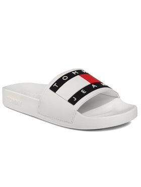 Tommy Jeans Tommy Jeans Šlepetės Flag Pool Slide EN0EN00474 Balta