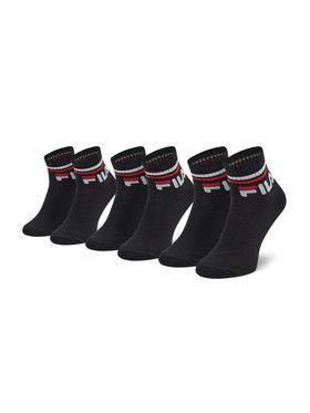 Fila Fila Sada 3 párů dětských vysokých ponožek Calza Quarter F8338 Černá