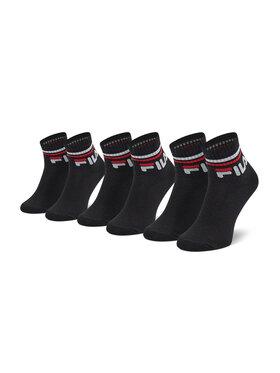 Fila Fila Set od 3 para dječjih visokih čarapa Calza Quarter F8338 Crna