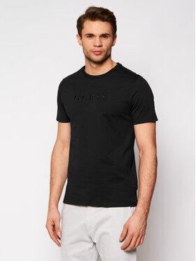 Guess Guess T-Shirt Tone-On-Tone Logo M82P64 R7HD0 Czarny Regular Fit