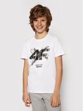 4F 4F T-Shirt HJL21-JTSM007 Weiß Regular Fit