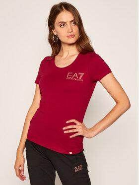 EA7 Emporio Armani EA7 Emporio Armani T-shirt 6HTT13 TJ29Z 1493 Bordeaux Regular Fit