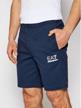EA7 Emporio Armani EA7 Emporio Armani Pantaloncini di tessuto 3KPS01 PNQ1Z 1554 Blu scuro Regular Fit