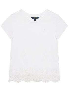 Polo Ralph Lauren Polo Ralph Lauren T-Shirt Eyelet 313784210001 Weiß Regular Fit