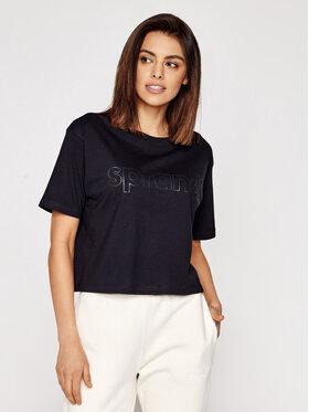 Sprandi Sprandi T-shirt SS21-TSD006 Crna Cropp Fit