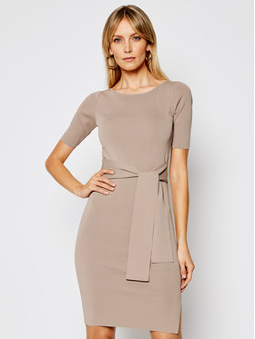 Guess Guess Úpletové šaty Sarah W1GK49 Z2U00 Hnědá Slim Fit