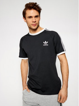 adidas adidas Marškinėliai adicolor Classics 3-Stripes GN3495 Juoda Slim Fit