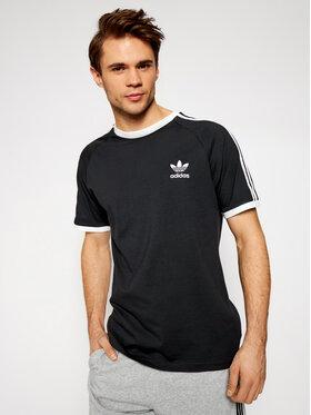 adidas adidas Tricou adicolor Classics 3-Stripes GN3495 Negru Slim Fit