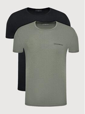 Emporio Armani Underwear Emporio Armani Underwear Комплект 2 тишъртки 111267 1A717 06621 Черен Regular Fit