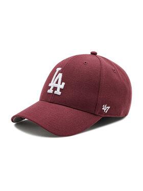 47 Brand 47 Brand Czapka z daszkiem Los Angeles Dodgers B-MVP12WBV-KMA Bordowy