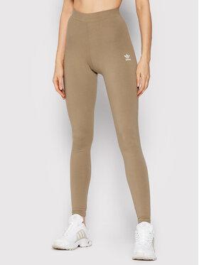 adidas adidas Legginsy Loungewear adicolor Essentials H06623 Zielony Slim Fit