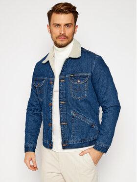 Wrangler Wrangler Jeansová bunda Icons Sherpa In 6 Months W4MSUG923 Modrá Regular Fit