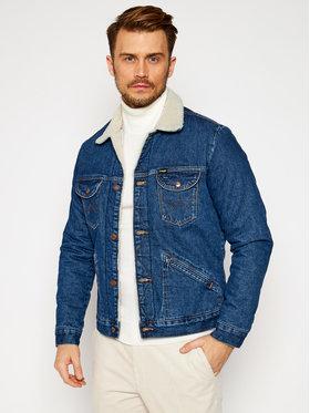 Wrangler Wrangler Kurtka jeansowa Icons Sherpa In 6 Months W4MSUG923 Niebieski Regular Fit
