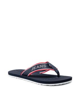 Tommy Jeans Tommy Jeans Japonki Comfort Footbed Neach Sandal EM0EM00693 Granatowy