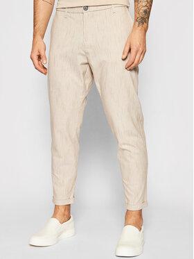 Imperial Imperial Bavlnené nohavice PWB0BME Béžová Slim Fit