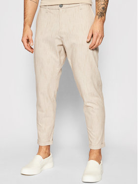 Imperial Imperial Spodnie materiałowe PWB0BME Beżowy Slim Fit