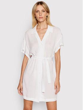 Tommy Hilfiger Tommy Hilfiger Лятна рокля Sygnature UW0UW02885 Бял Regular Fit