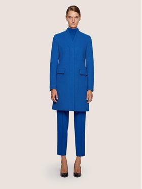 Boss Boss Płaszcz wełniany C_Cojulie 50436614 Niebieski Slim Fit