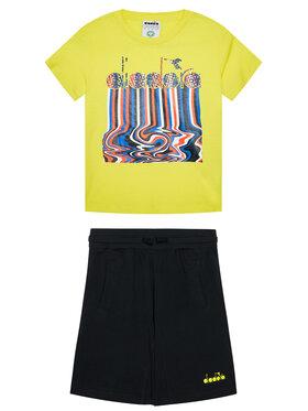 Diadora Diadora Komplet t-shirt i spodenki Logo Drip 102.177131 Żółty Comfort Fit