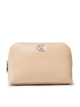 Calvin Klein Jeans Calvin Klein Jeans Kosmetyczka Minimal Monogram Make Up Bag K60K608403 Beżowy