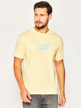 New Balance New Balance T-Shirt Nbathprpfrendst MT01516S Żółty Regular Fit