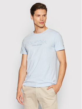 Tommy Hilfiger Tommy Hilfiger T-Shirt Palm Print MW0MW19361 Niebieski Regular Fit
