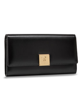 Trussardi Trussardi Portefeuille femme grand format Lione Continental 75W00241 Noir