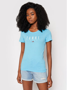 Tommy Jeans Tommy Jeans T-Shirt Tjw Essential Logo DW0DW09926 Modrá Slim Fit