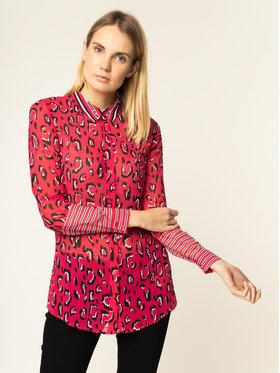 Guess Guess Marškiniai Ls Clouis W01H80 W70Q0 Rožinė Regular Fit