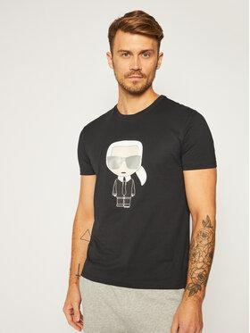 KARL LAGERFELD KARL LAGERFELD T-Shirt Crewneck 755061 502251 Czarny Regular Fit