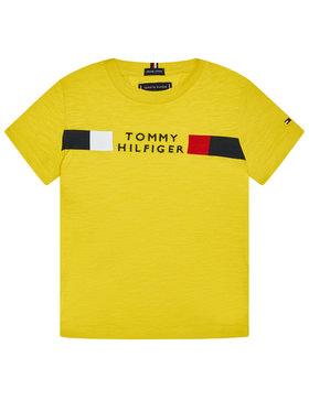 TOMMY HILFIGER TOMMY HILFIGER Тишърт Global Stripe Tee KB0KB06096 M Жълт Regular Fit