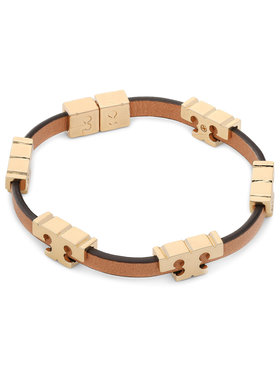 Tory Burch Tory Burch Bransoletka Serif-T Stackable Bracelet 80706 Brązowy