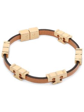 Tory Burch Tory Burch Náramek Serif-T Stackable Bracelet 80706 Hnědá