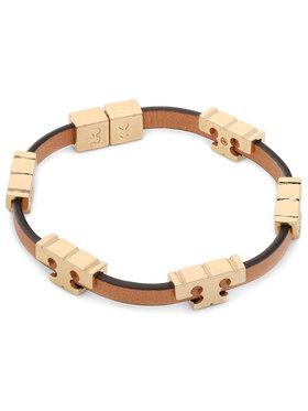 Tory Burch Tory Burch Náramok Serif-T Stackable Bracelet 80706 Hnedá