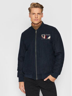 Pepe Jeans Pepe Jeans Geacă bomber George PM402433 Bleumarin Regular Fit