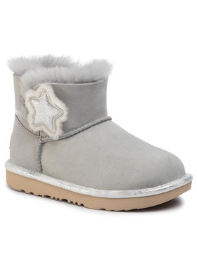 Ugg Ugg Chaussures K Mini Bailey Button II Star 1107969K Gris