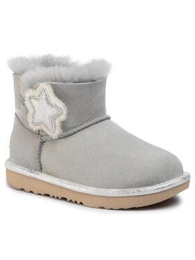 Ugg Ugg Обувки K Mini Bailey Button II Star 1107969K Сив