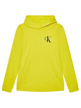 Calvin Klein Jeans Calvin Klein Jeans Bluza Small Monogram IU0IU00164 Żółty Regular Fit