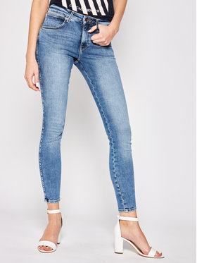 Wrangler Wrangler Skinny Fit džíny Body Bespoke W28KVH78X Modrá Skinny Fit