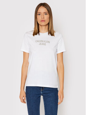 Calvin Klein Jeans Calvin Klein Jeans Póló J20J217286 Fehér Regular Fit
