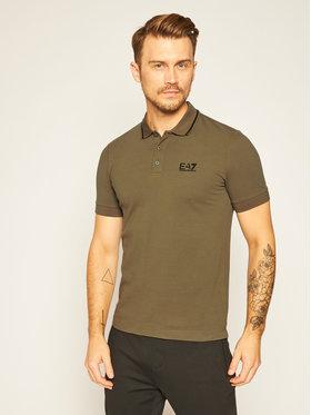 EA7 Emporio Armani EA7 Emporio Armani Тениска с яка и копчета 8NPF06 PJ04Z 1867 Зелен Regular Fit