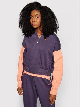 Nike Nike Суитшърт Icon Clash Mix CZ8164 Виолетов Oversized Fit