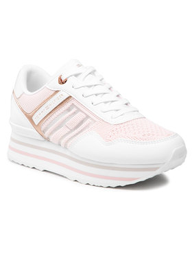 Tommy Hilfiger Tommy Hilfiger Sneakersy Knitted Flatform Sneaker FW0FW05555 Różowy