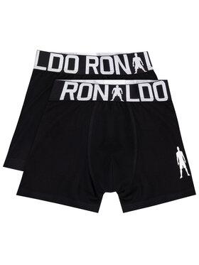 Cristiano Ronaldo CR7 Cristiano Ronaldo CR7 Σετ 2 ζευγάρια μποξεράκια Boys 2-Pack Boxer 8400-51-451 Μαύρο