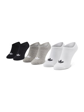 adidas adidas Unisex trumpų kojinių komplektas (3 poros) Trefoil Liner FT8524 Balta
